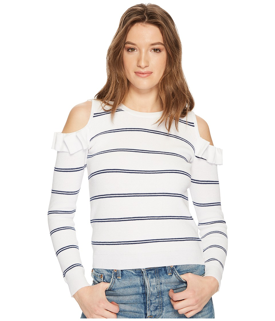 Jack by BB Dakota - Eloisa Cold Shoulder Striped Sweater (Off-White) Womens Sweater