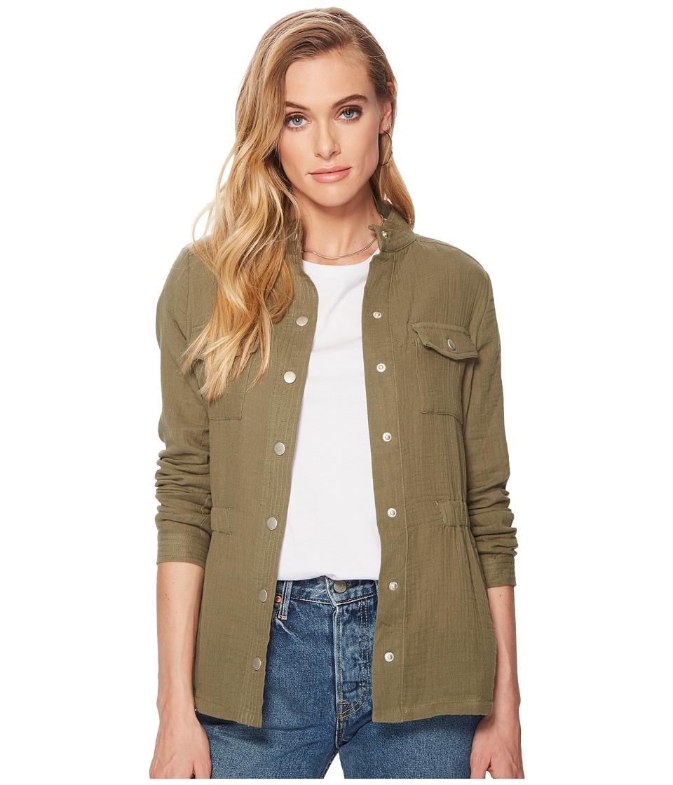 Jack by BB Dakota - Burnell Cotton Gauze Utility Jacket (Burnt Olive) Womens Coat