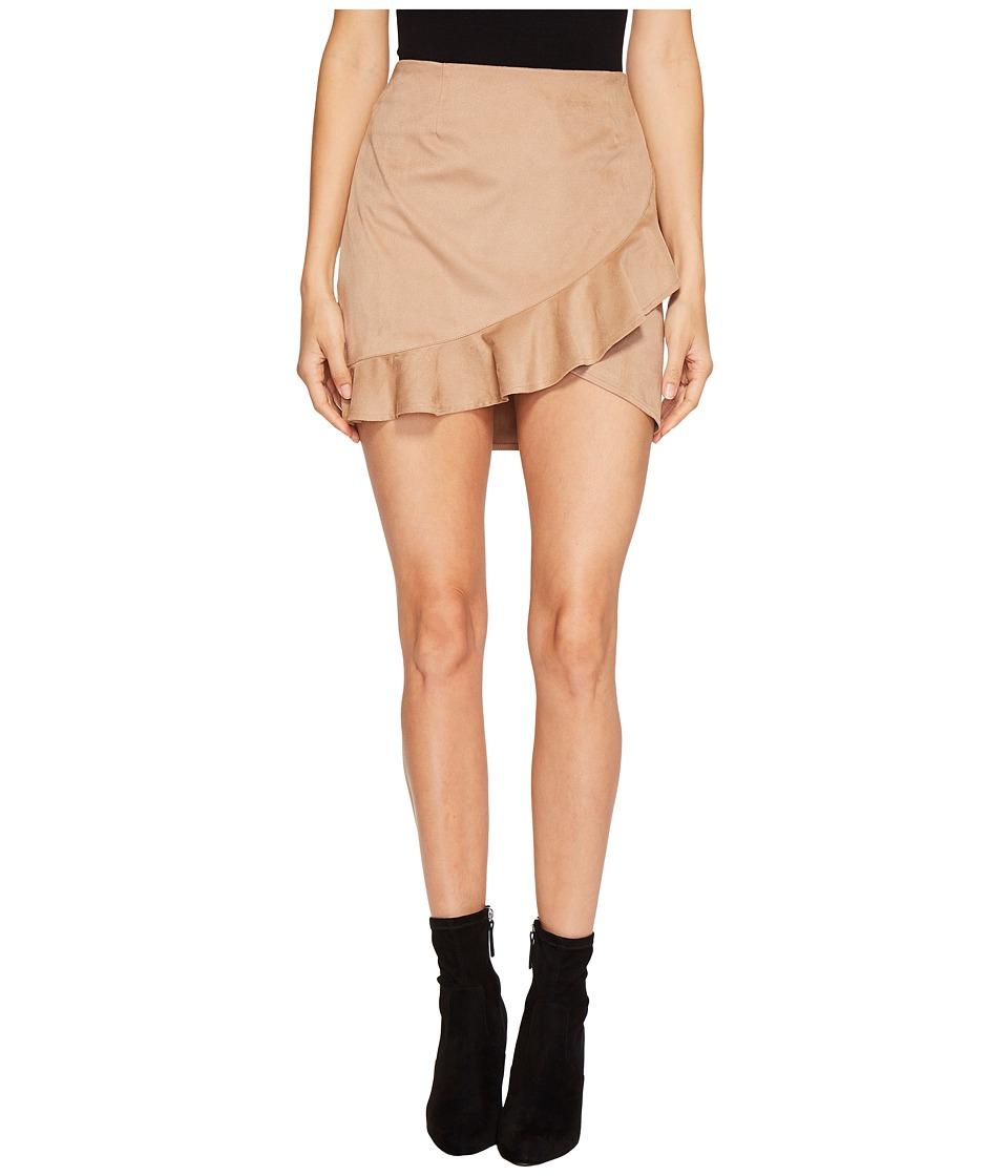 Jack by BB Dakota - Khan Faux Suede Ruffle Skirt (Sienna) Womens Skirt
