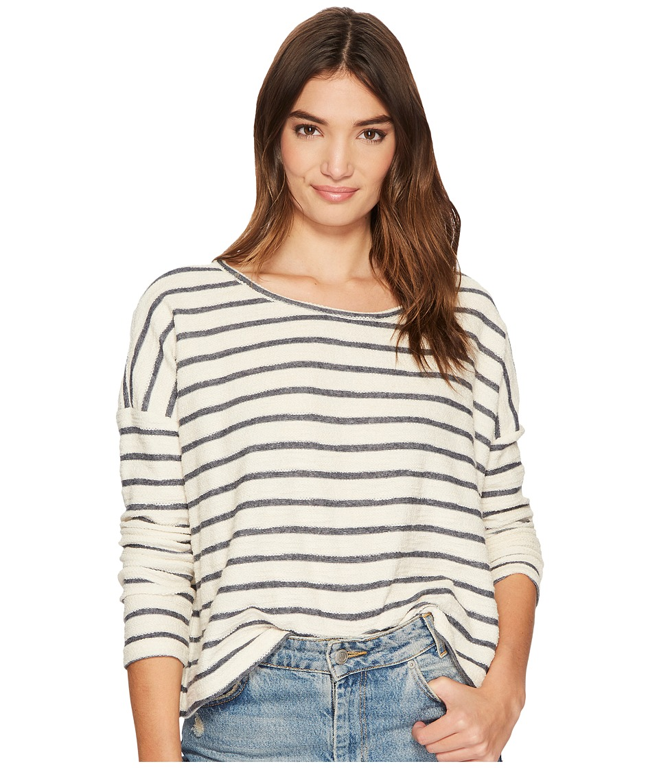 Jack by BB Dakota - Allyson Striped French Terry Drop Shoulder Top (Ivory) Womens Clothing
