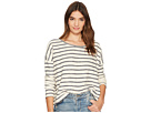 Jack by BB Dakota Allyson Striped French Terry Drop Shoulder Top