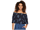 Jack by BB Dakota Ronell Blue Dreams Printed Off the Shoulder Top