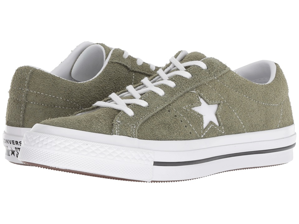 Converse Kids One Star Ox (Big Kid) (Field Surplus/Black/White) Boys Shoes