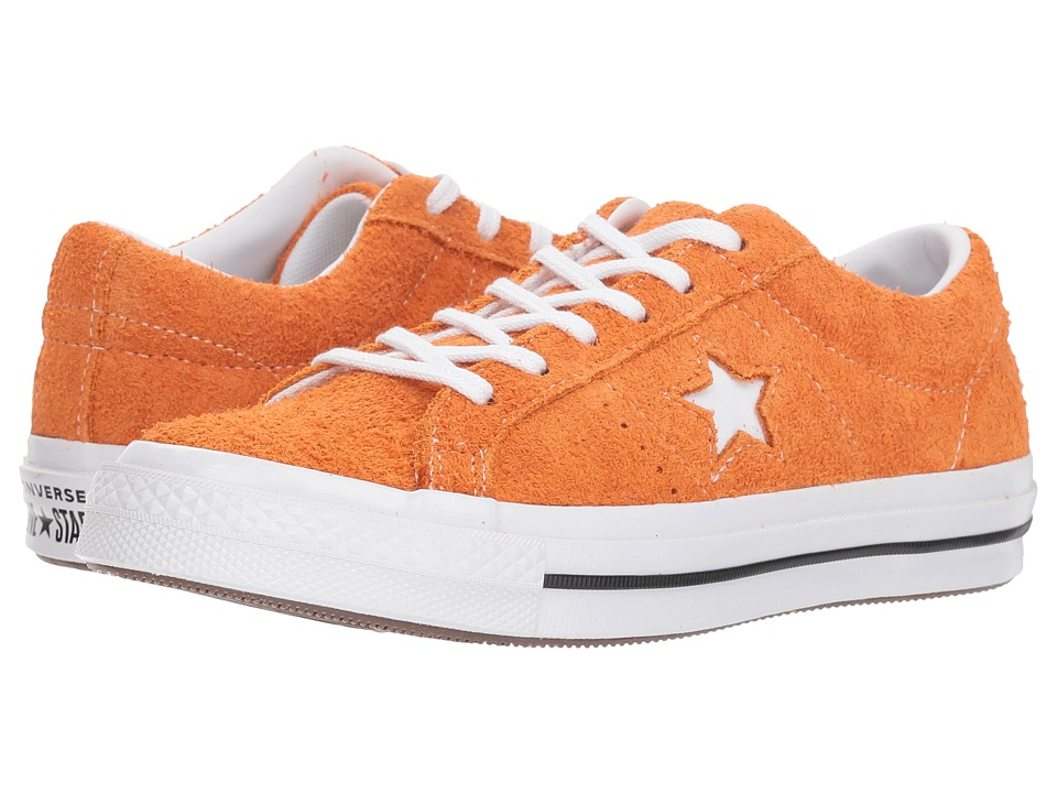 Converse Kids One Star Ox (Big Kid) (Bold Mandarin/Black/White) Boys Shoes