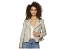 Jack by BB Dakota Laren Washed Crinkled Vegan Leather Moto Jacket