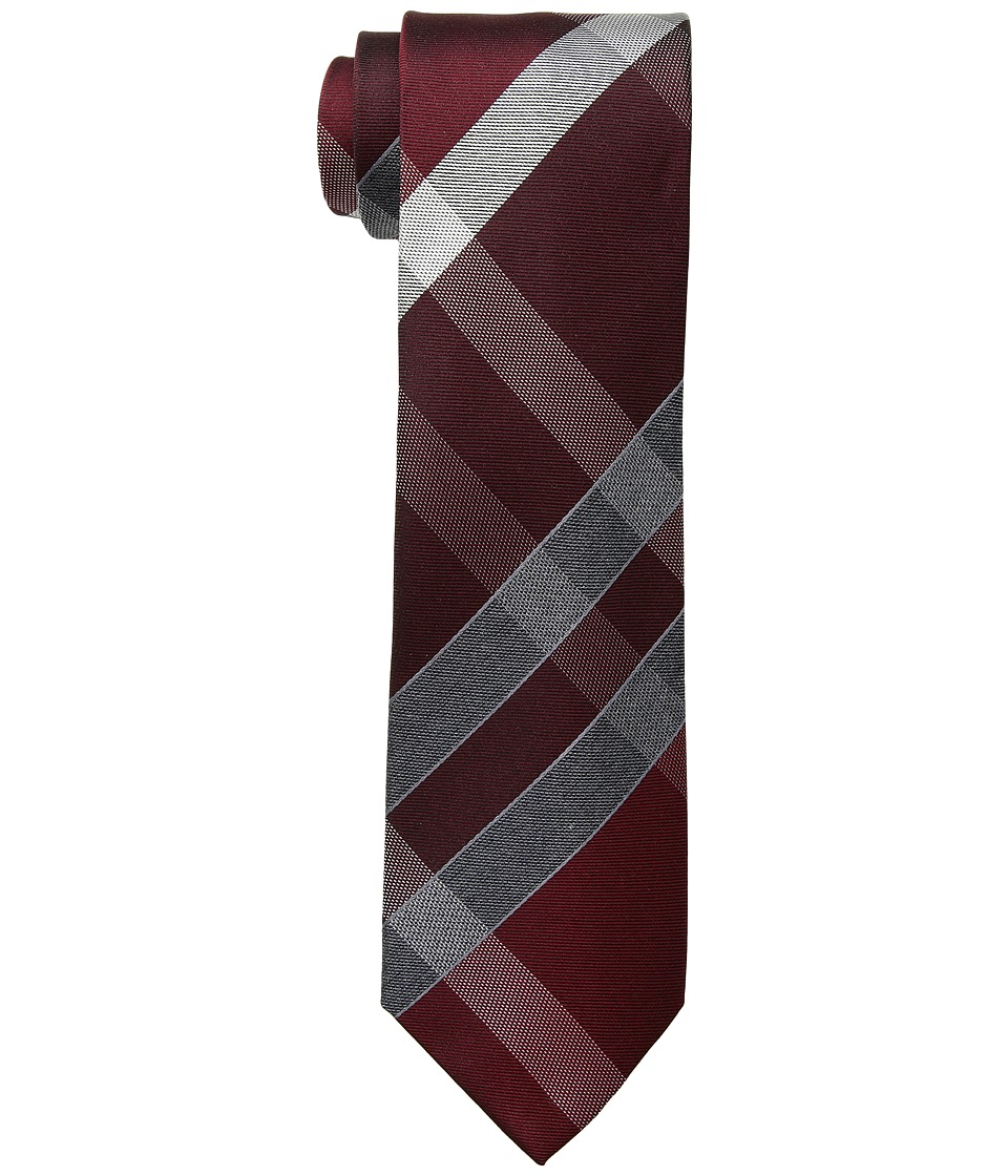 Kenneth Cole Reaction - Track Plaid (Burgundy) Ties
