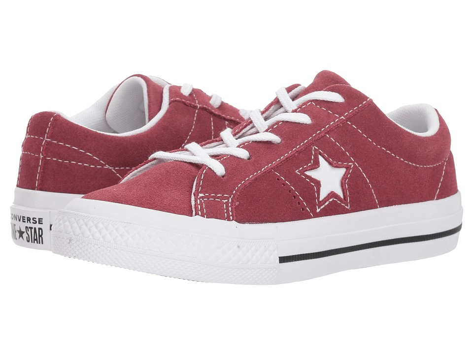 Converse Kids One Star Ox (Little Kid) (Dark Burgundy/Black/White) Boy