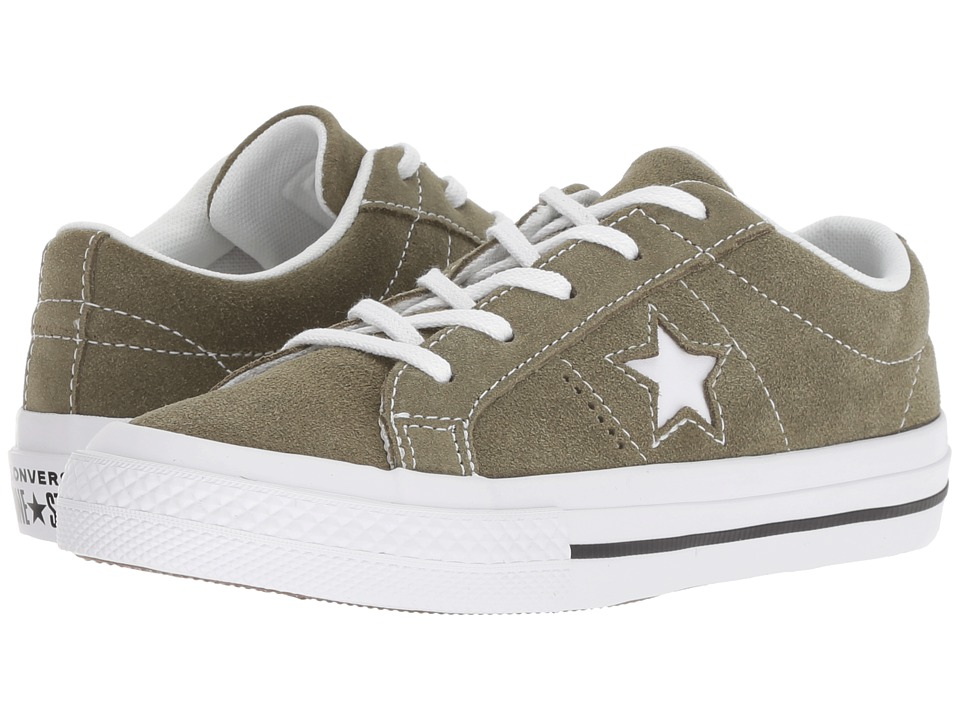 Converse Kids One Star Ox (Little Kid) (Field Surplus/Black/White) Boy