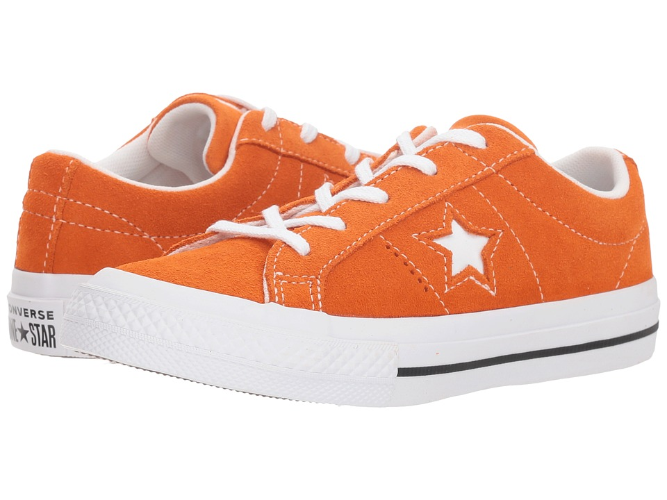 Converse Kids One Star Ox (Little Kid) (Bold Mandarin/Black/White) Boy
