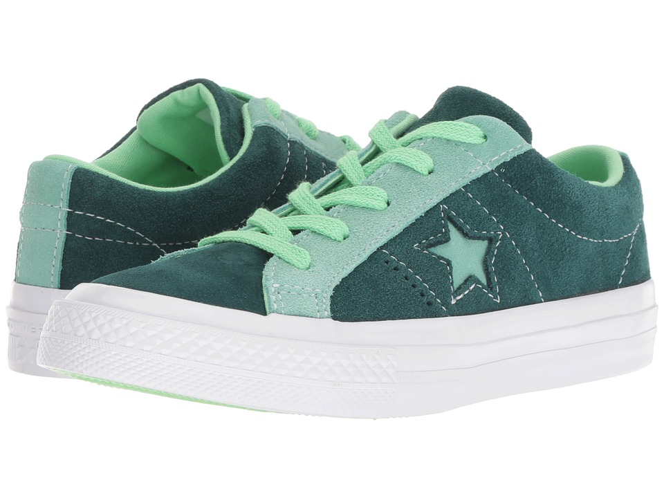 Converse Kids One Star Ox (Little Kid) (Ponderosa Pine/Neptune Green/Illusion Green) Boy