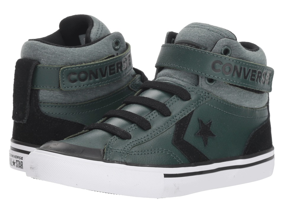 Converse Kids Pro Blaze Strap Hi (Little Kid/Big Kid) (Vintage Green/Black/White) Boys Shoes