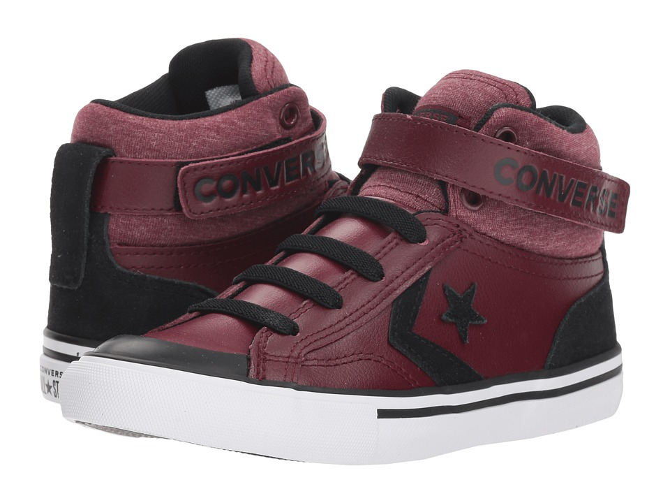 Converse Kids Pro Blaze Strap Hi (Little Kid/Big Kid) (Dark Burgundy/Black/White) Boys Shoes