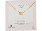 Dogeared Infinite Love, Cross with Rays Charm Necklace