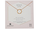 Dogeared Infinite Love, Small Crystal Halo Necklace