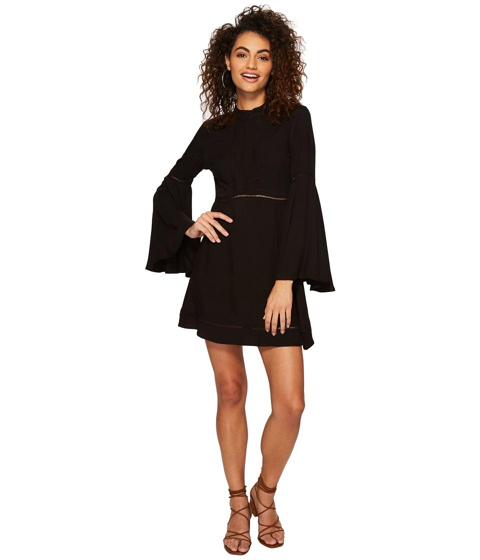 Jack by BB Dakota - Charrelle Rayon Twill Dress with Ladder Tape Trim (Black) Womens Dress