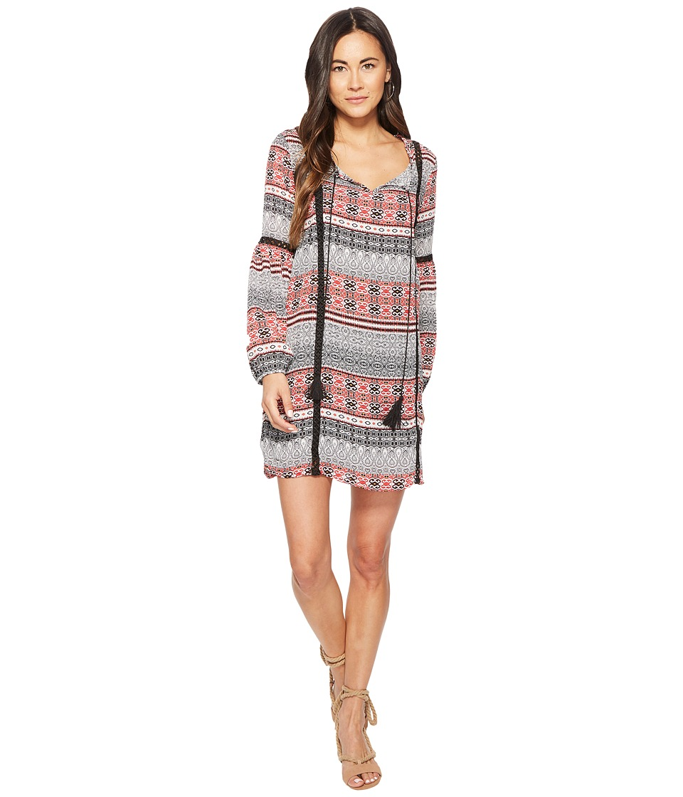 Jack by BB Dakota - Colbie Tapastry Stripe Printed Dress (Off-White) Womens Dress