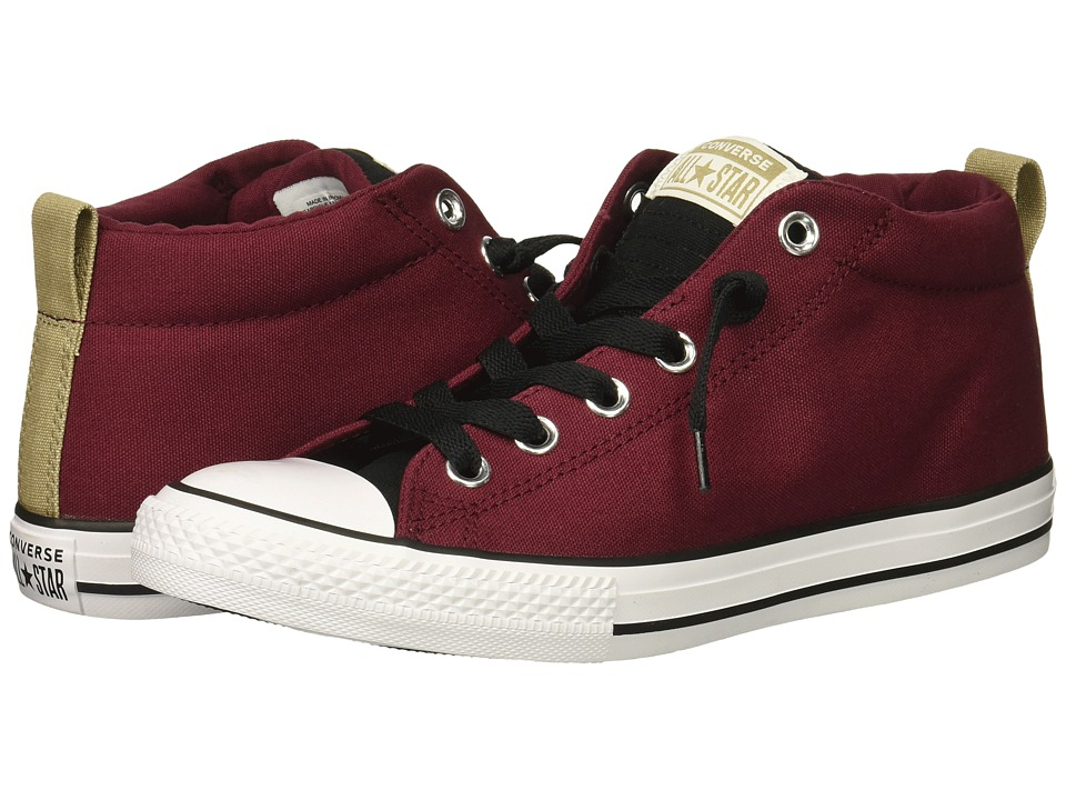 Converse Kids Chuck Taylor All Star Street Mid (Little Kid/Big Kid) (Dark Burgundy/Black/White) Boy