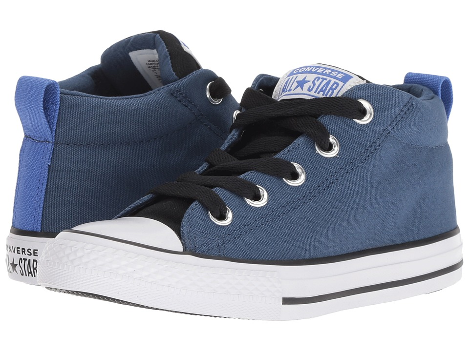 Converse Kids Chuck Taylor All Star Street Mid (Little Kid/Big Kid) (Mason Blue/Black/White) Boy