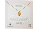 Dogeared Beautiful Beginnings, Detailed Lotus Charm with Crystal Inset Necklace