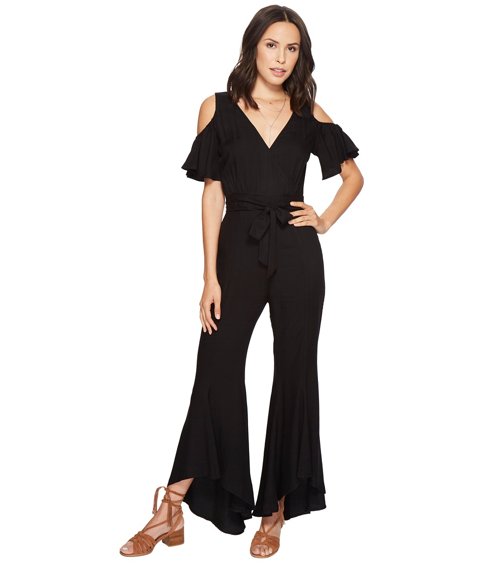 Jack by BB Dakota - Sade Woven Twill Jumpsuit (Black) Womens Jumpsuit & Rompers One Piece