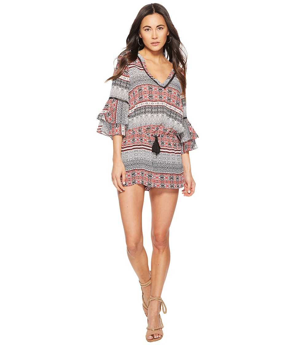 Jack by BB Dakota - Clyne Tapastry Stripe Printed Romper (Off-White) Womens Jumpsuit & Rompers One Piece