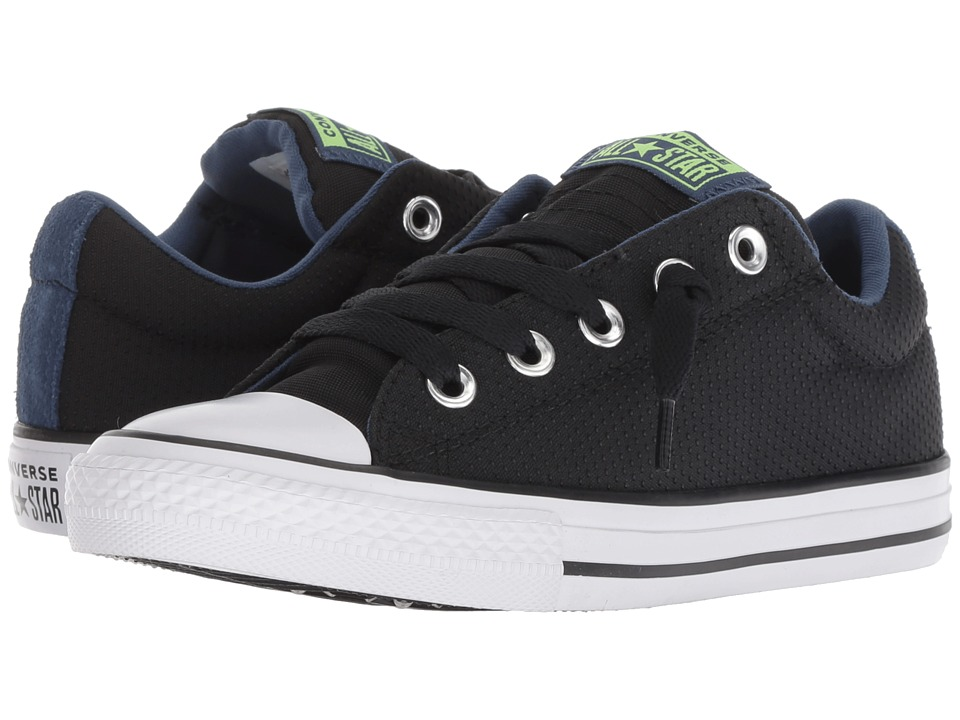 Converse Kids Chuck Taylor All Star Street Slip (Little Kid/Big Kid) (Black/Mason/Blue/White) Boy