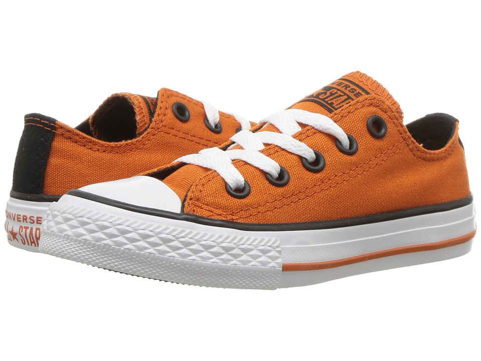 Converse Kids Chuck Taylor(r) All Star(r) Seasonal Ox (Little Kid/Big Kid) (Campfire Orange/Black/White) Boy