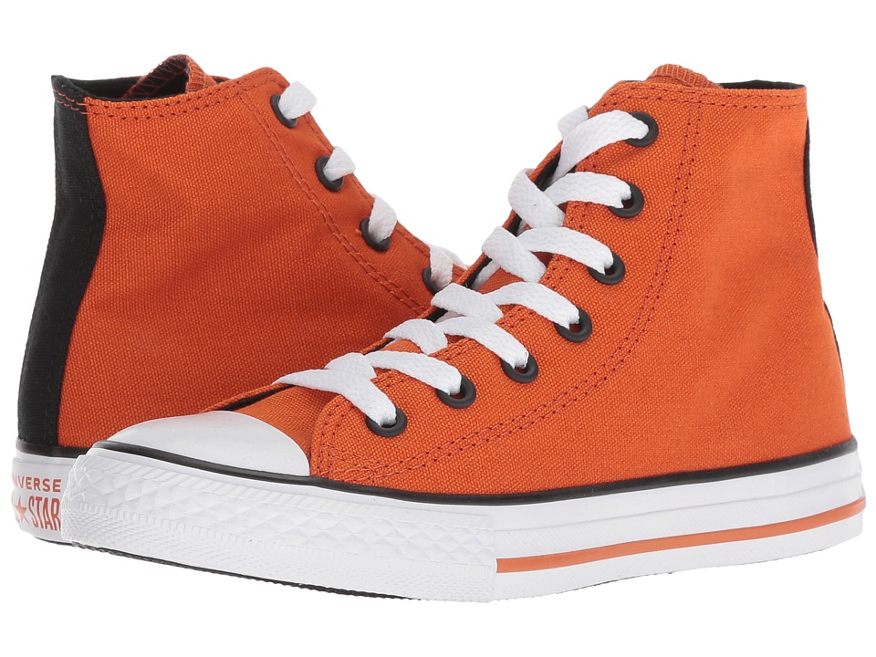 Converse Kids Chuck Taylor(r) All Star(r) Seasonal Hi (Little Kid/Big Kid) (Campfire Orange/Black/White) Boy
