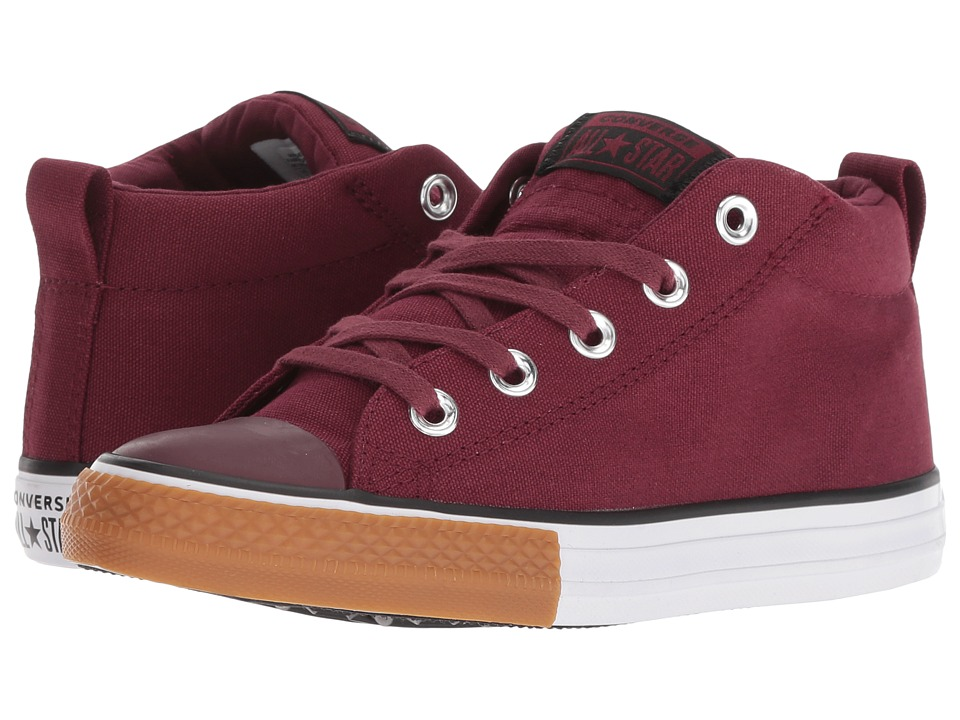 Converse Kids Chuck Taylor All Star Street Mid (Little Kid/Big Kid) (Dark Burgundy/Black/White 1) Boy