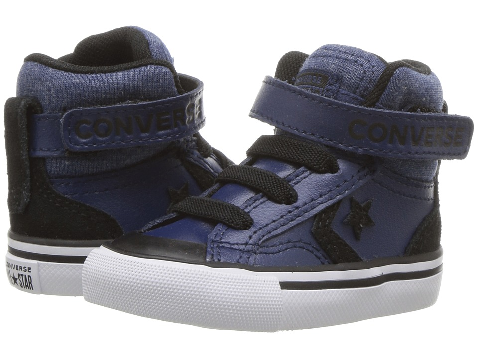 Converse Kids Pro Blaze Strap Hi (Infant/Toddler) (Navy/Black/White) Boy
