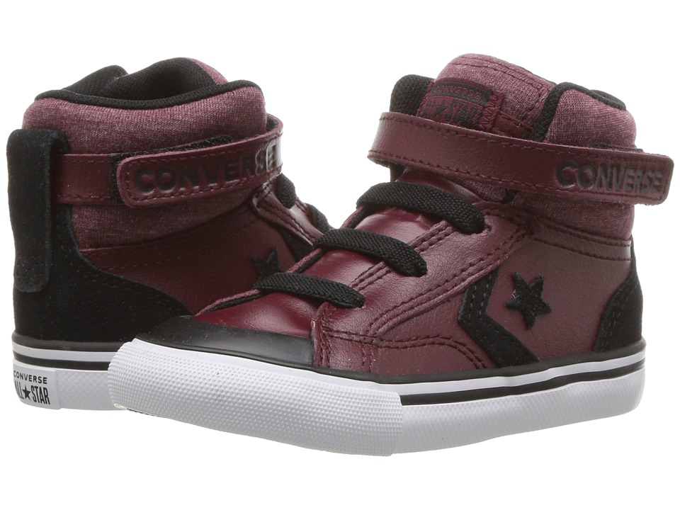 Converse Kids Pro Blaze Strap Hi (Infant/Toddler) (Dark Burgundy/Black/White) Boy