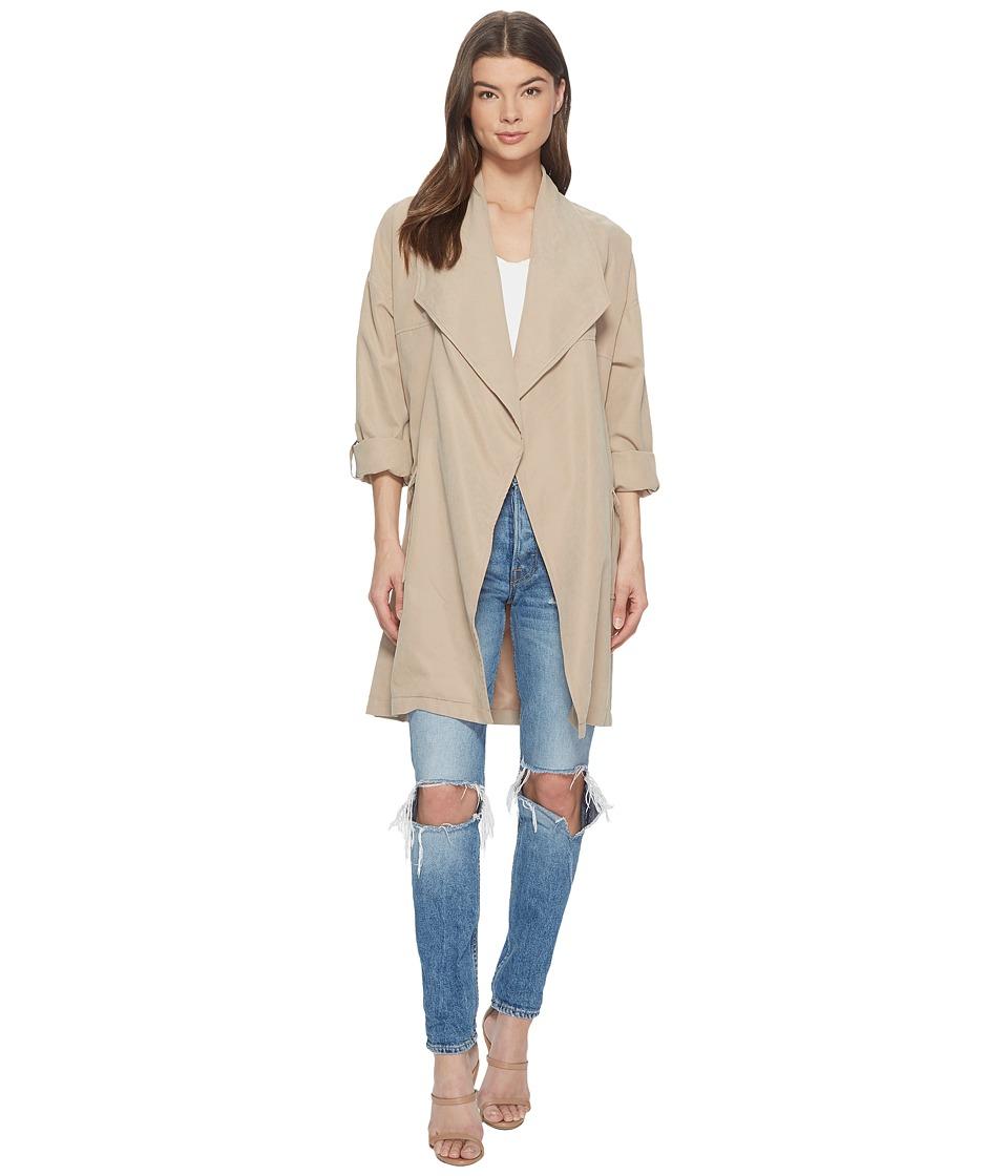 Jack by BB Dakota - Abreila Drape Front Coat (Khaki) Womens Coat