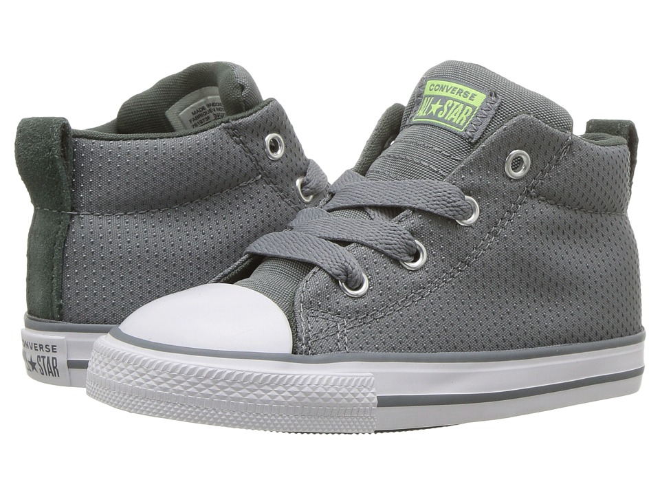 Converse Kids Chuck Taylor(r) All Star(r) Street Mid (Infant/Toddler) (Cool Grey/Vintage Green/White) Boy