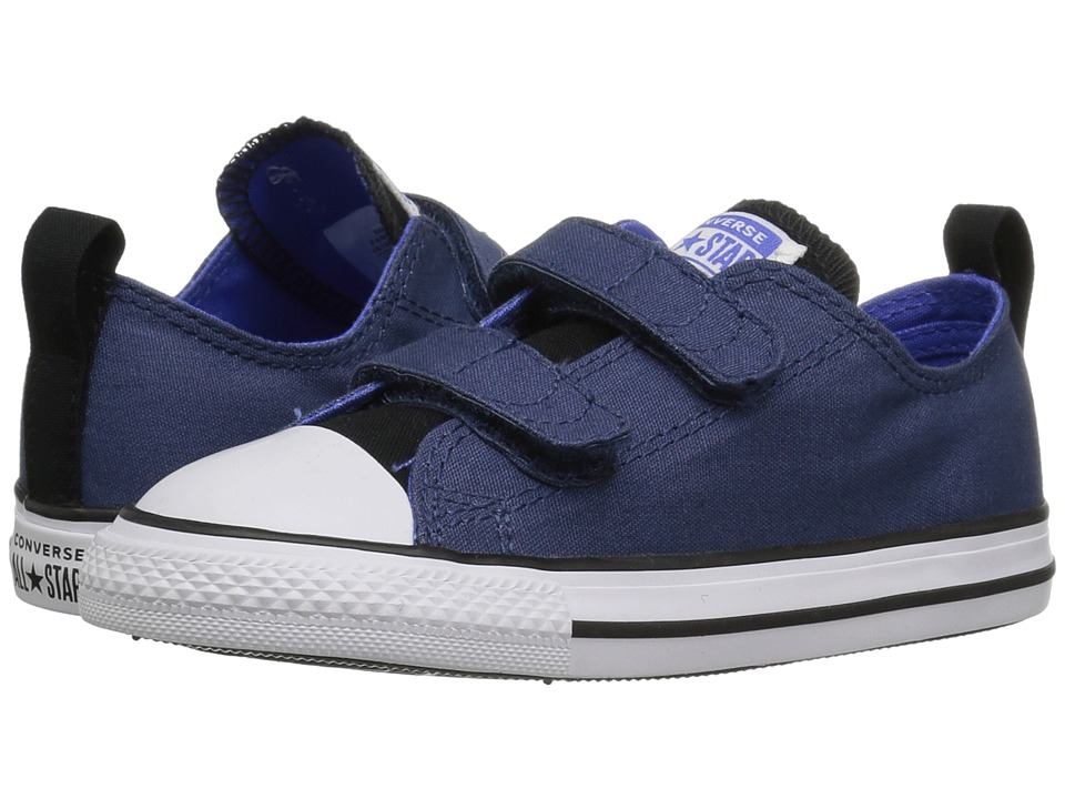 Converse Kids Chuck Taylor(r) All Star(r) 2V Ox (Infant/Toddler) (Mason Blue/Black/White) Boys Shoes