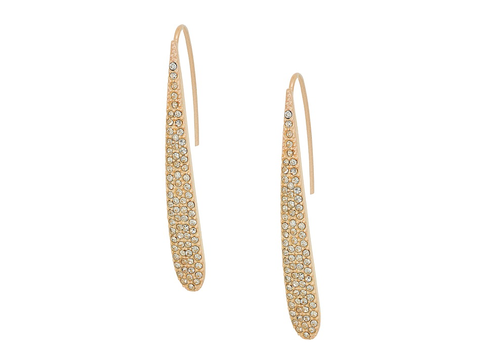 GUESS - Pave Paddle Linear Earrings (Matte Blush/Crystal) Earring