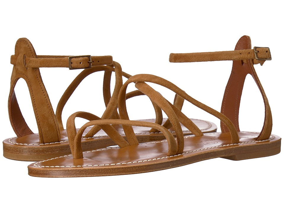K.Jacques - Epicure Velours Sandal (Bran Brown) Womens Sandals