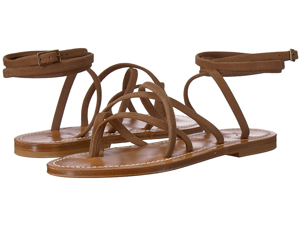K.Jacques - Zenobie Velours Sandal (Mink Brown) Womens Sandals
