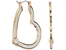 GUESS Heart Hoop Earrings with Tone Detail