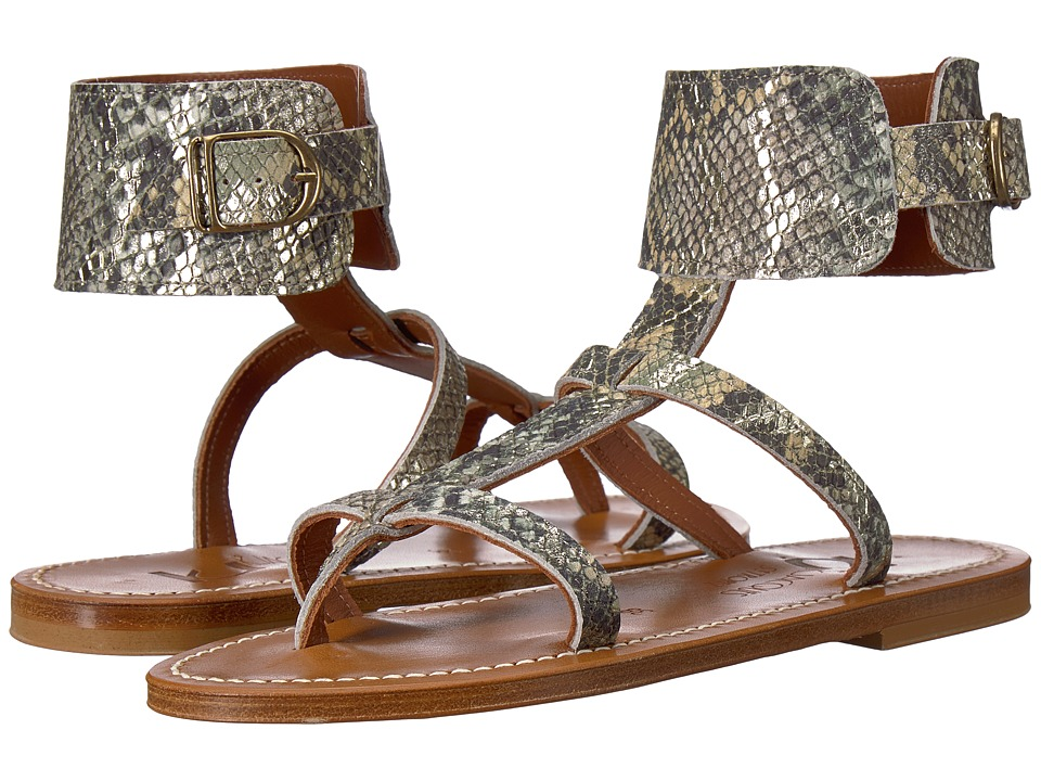 K.Jacques - Caravelle Hawaii Sandal (Jungle Green Snake) Womens Sandals