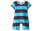 Toobydoo Toobydoo On The Beach Stripe Shortie Jumpsuit (Infant)