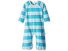 Toobydoo Aqua Stripe Bootcut Jumpsuit (Infant)