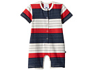 Toobydoo Stars and Stripes Henley Shortie Jumpsuit (Infant)