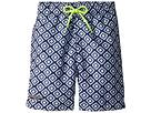 Toobydoo Toobydoo Blue White Patterned Swim Shorts (Infant/Toddler/Little Kids/Big Kids)
