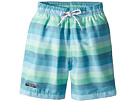 Toobydoo Toobydoo Touch of Green Stripe Swim Shorts (Infant/Toddler/Little Kids/Big Kids)