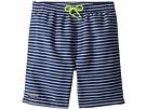 Toobydoo Toobydoo Navy White Pinstripe Swim Shorts (Infant/Toddler/Little Kids/Big Kids)