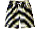 Toobydoo Toobydoo Navy Yellow Stripe Swim Shorts (Infant/Toddler/Little Kids/Big Kids)