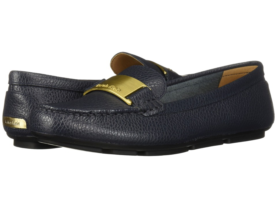 Calvin Klein Lisette Loafer (Deep Navy Glazed Tumbled) Women's Shoes