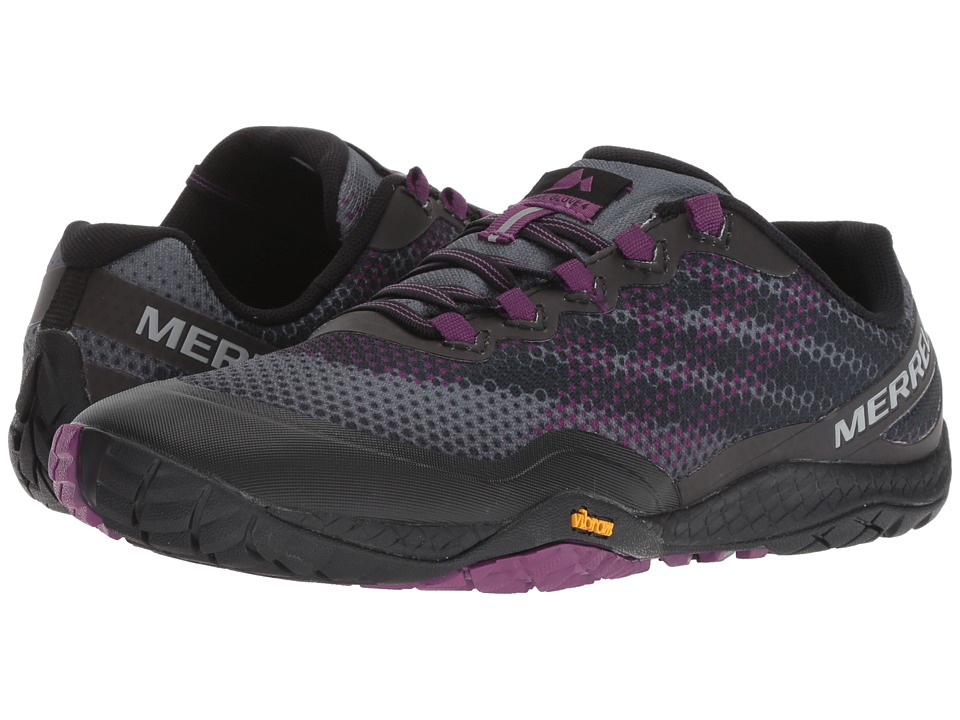 Merrell Trail Glove 4 Shield (Black/Purple) Women's Cross Training Shoes
