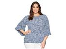 MICHAEL Michael Kors Plus Size Collage Floral Sleeve Top
