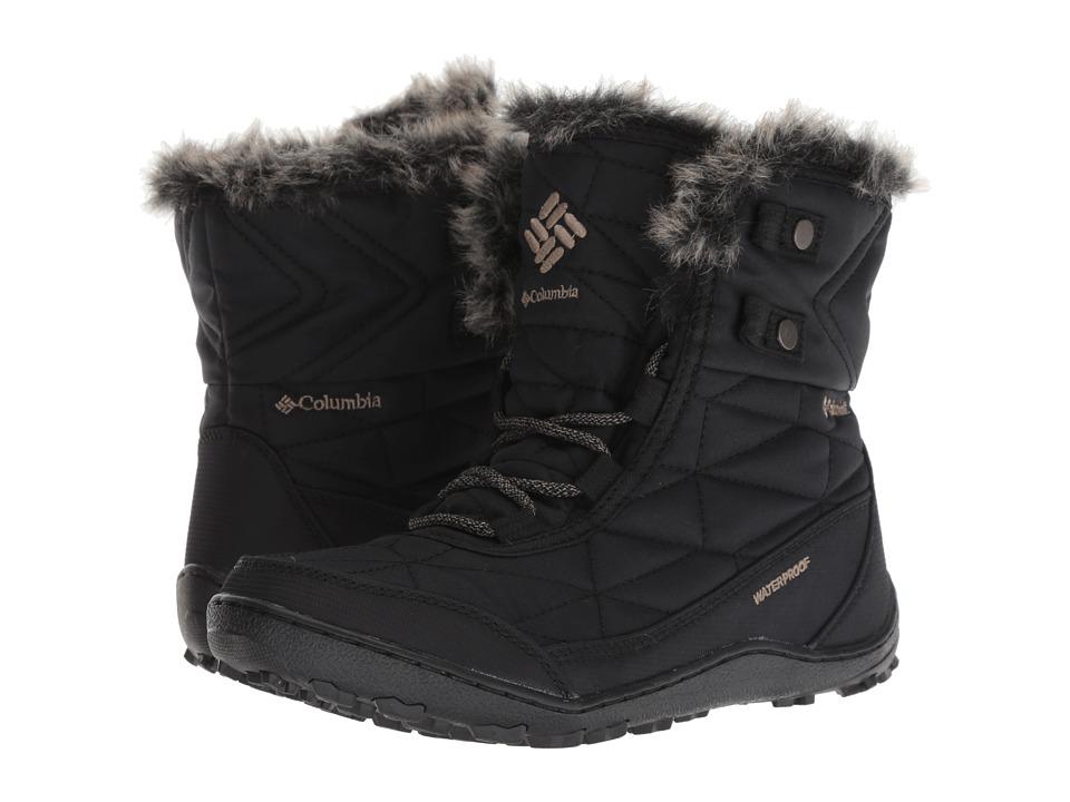 Columbia Minx Shorty III (Black/Pebble) Women's Cold Weather Boots